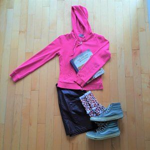 Pink Fitted Hoodie